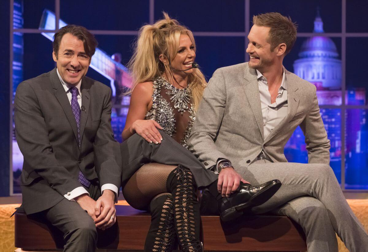 Britney Spears Stills Jonathan Ross Show in London
