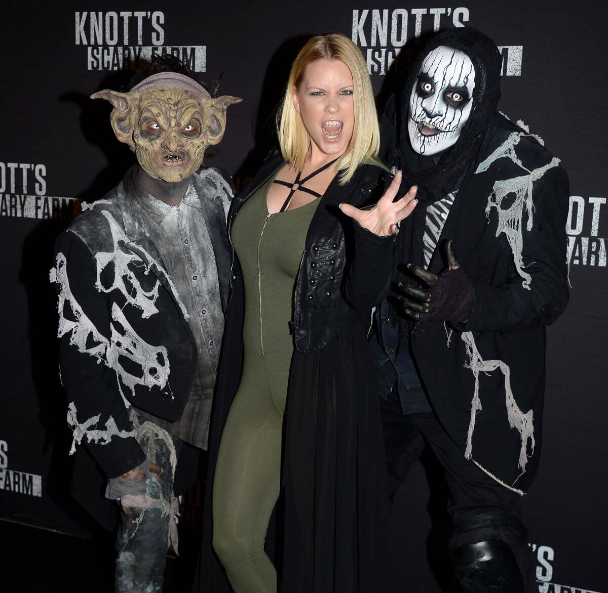 Carrie Keagan Stills Knott's Scary Farm Opening Night in Buena Park
