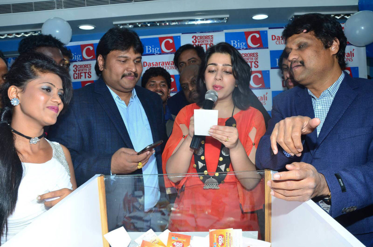 Charmy Kaur at Big C Dasarawali Lucky Draw Vijayawada Photos