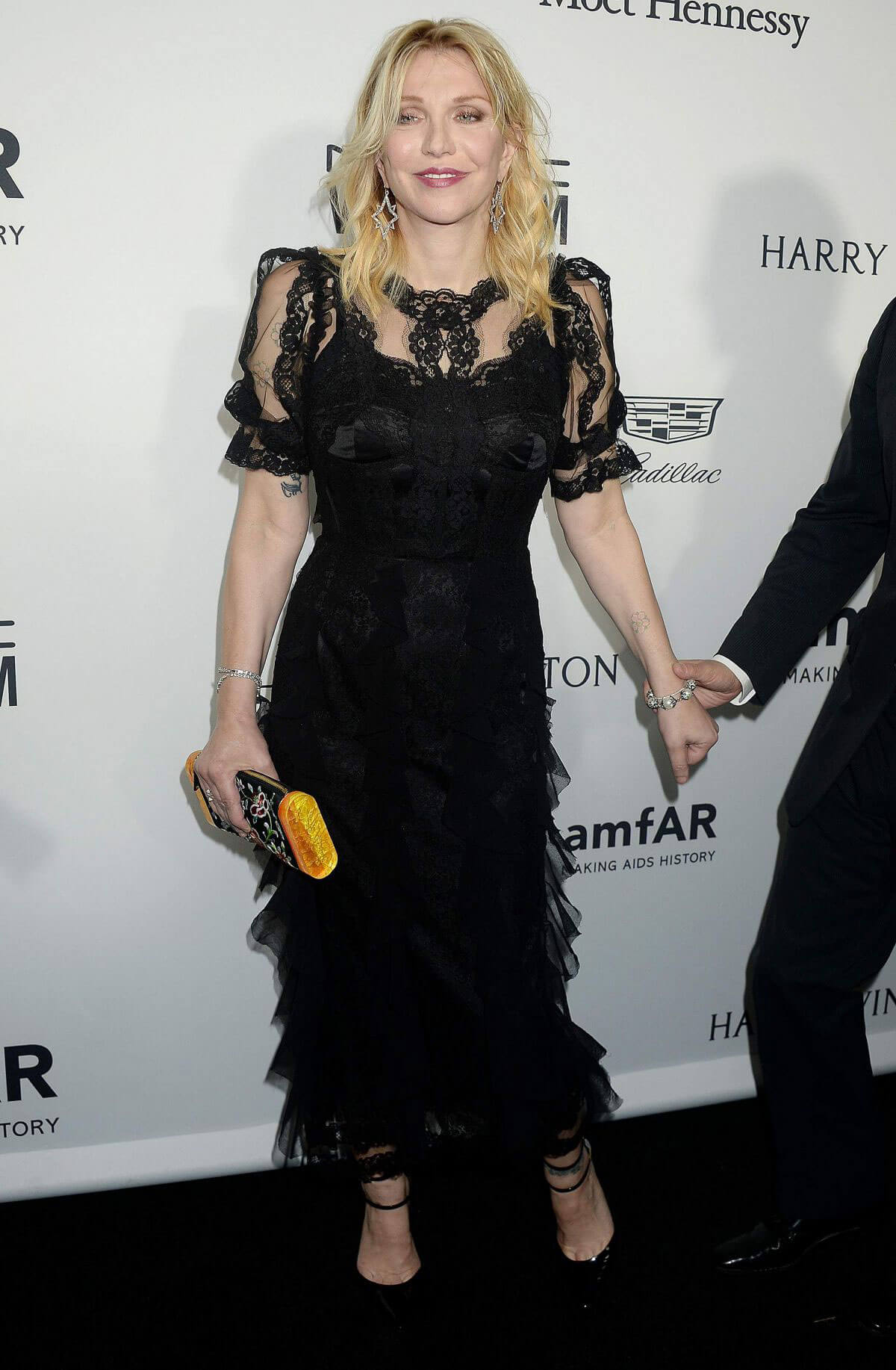 Courtney Love Stills at 2016 amfar Inspiration Gala at Milk Studios in Los Angeles