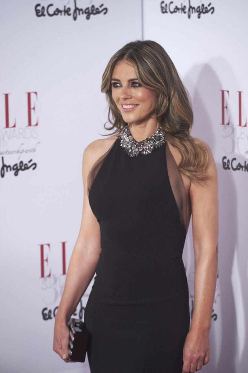 Elizabeth Hurley Stills at Elle Magazine Party in Madrid