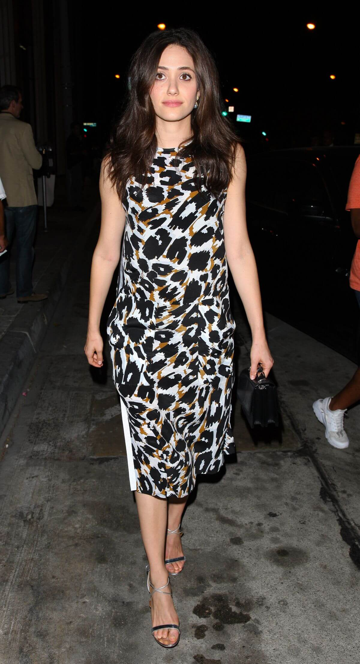 Emmy Rossum Stills Out for Dinner in Los Angeles