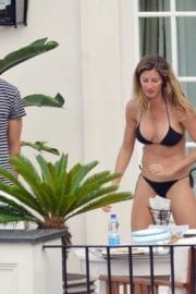 Gisele Bundchen Stills Bikini at a Hotel in Positano