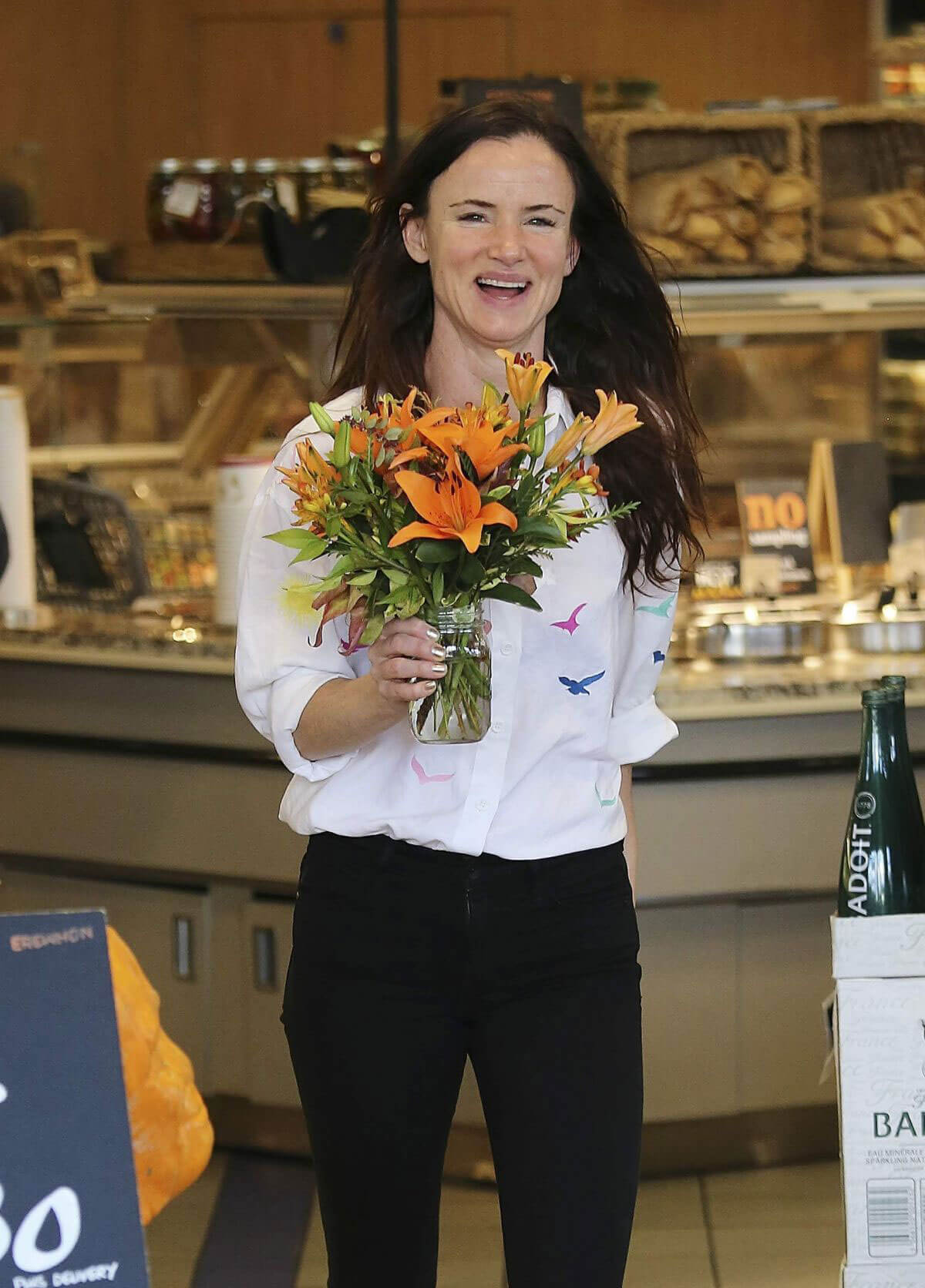 Juliette Lewis Stills Buys Flowers at Erewhon Market in West Hollywood