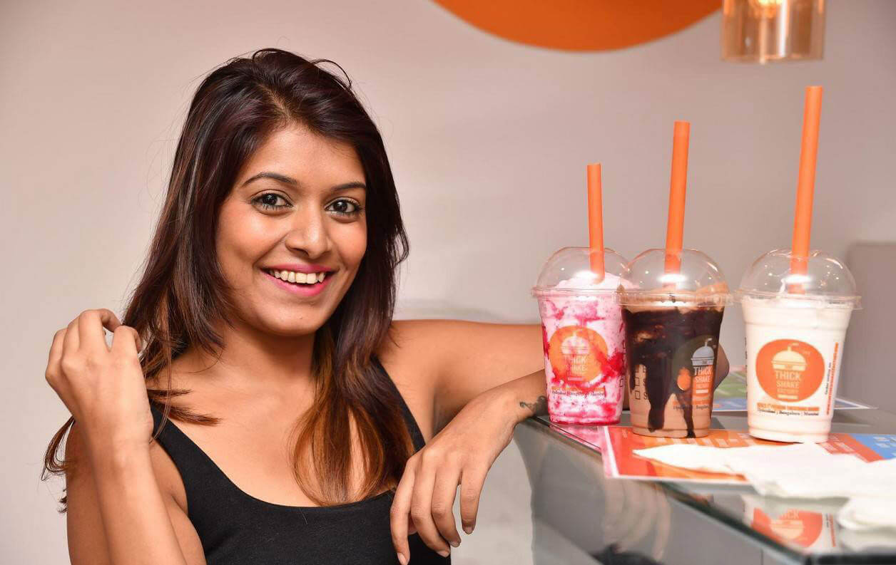 Kavya Kumari at The Thickshake Factory Launch Photos