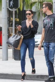 Lea Michele Stills Out Shopping in Beverly Hills