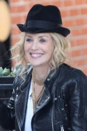 Sharon Stone Stills on the Set of 'A Little Something for Your Birthday'