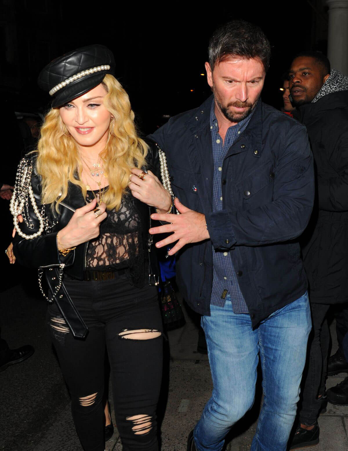 Singer Madonna Photos at Night Out in London
