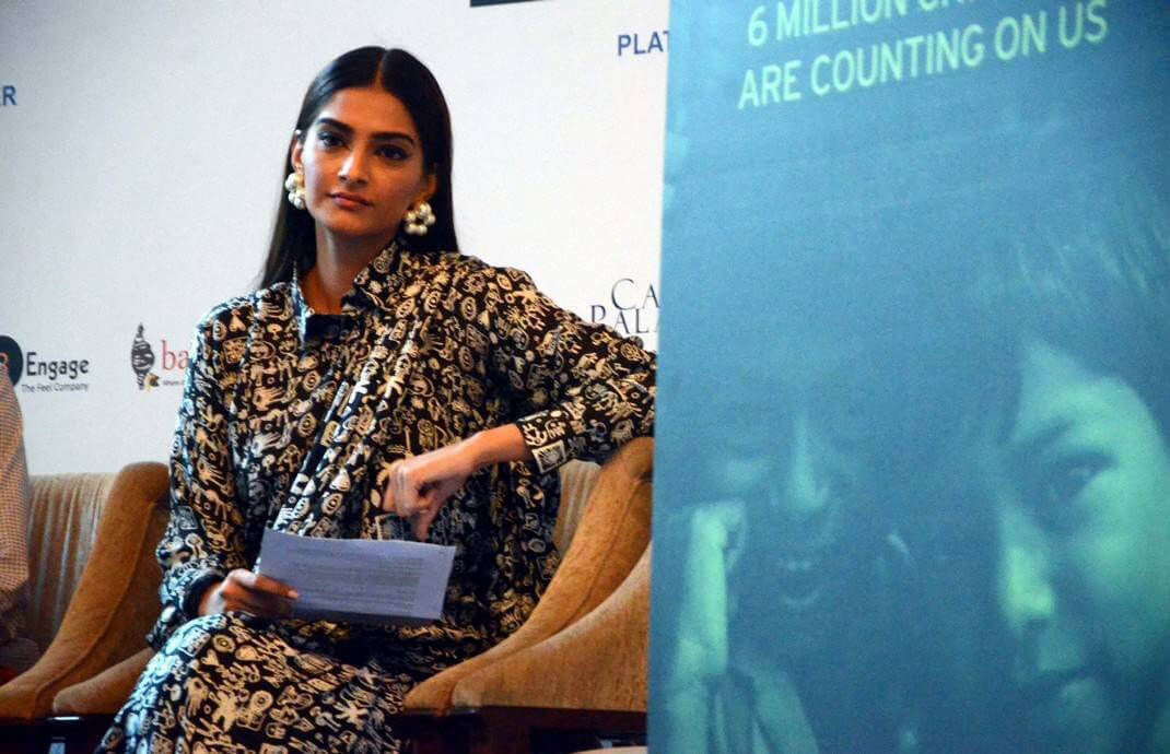 Sonam Kapoor at Fight Against Malnutrition Campaign Photos