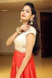 Swetha Jadhav in White And Red Dress Photos