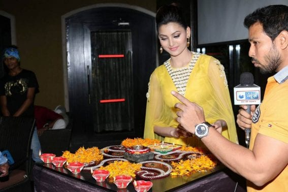 Urvashi Rautela Pics at Diwali Celebration Photos