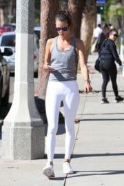 Alessandra Ambrosio Stills Images in Tights Out in Santa Monica