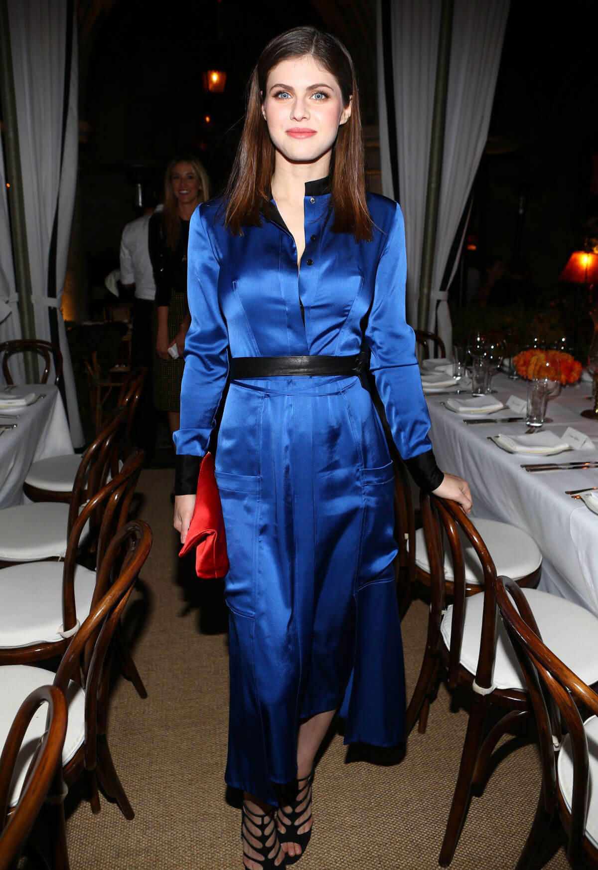 Alexandra Daddario at DVF Dinner in Los Angeles