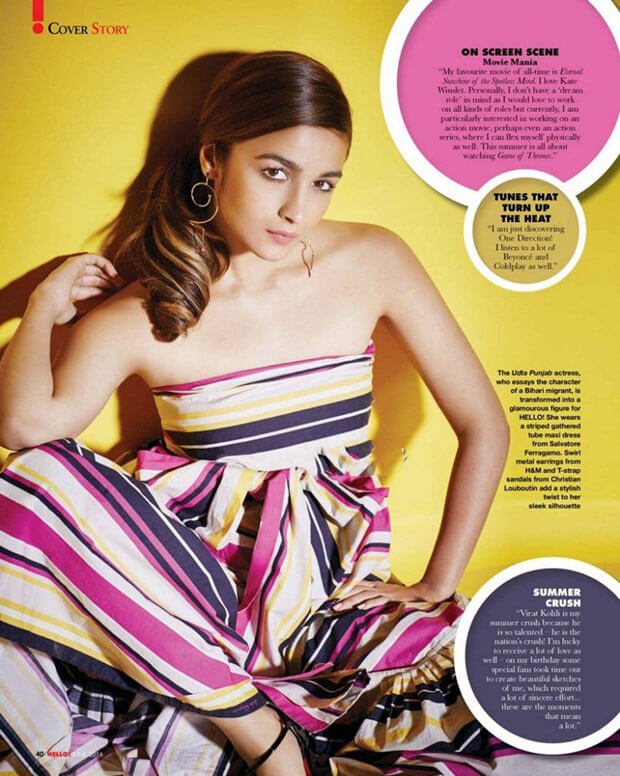 Alia Bhatt Stills Photoshoot For Hello Magazine June 2016