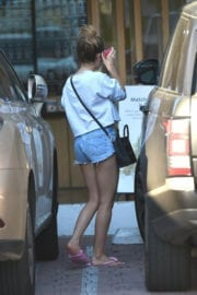 Ashley Tisdale Stills Images in Cut Off At Ea Skin Clinic in Los Angeles