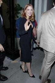Jessica Chastain Leaves Catch in West Hollywood Stills Images