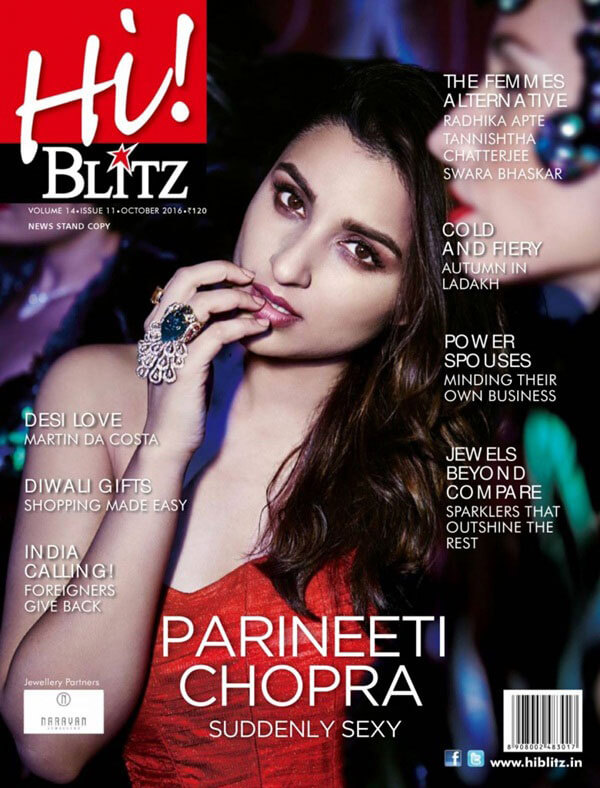 Parineeti Chopra Photoshoot for Hi! Blitz Magazine, Oct 2016 Stills Images
