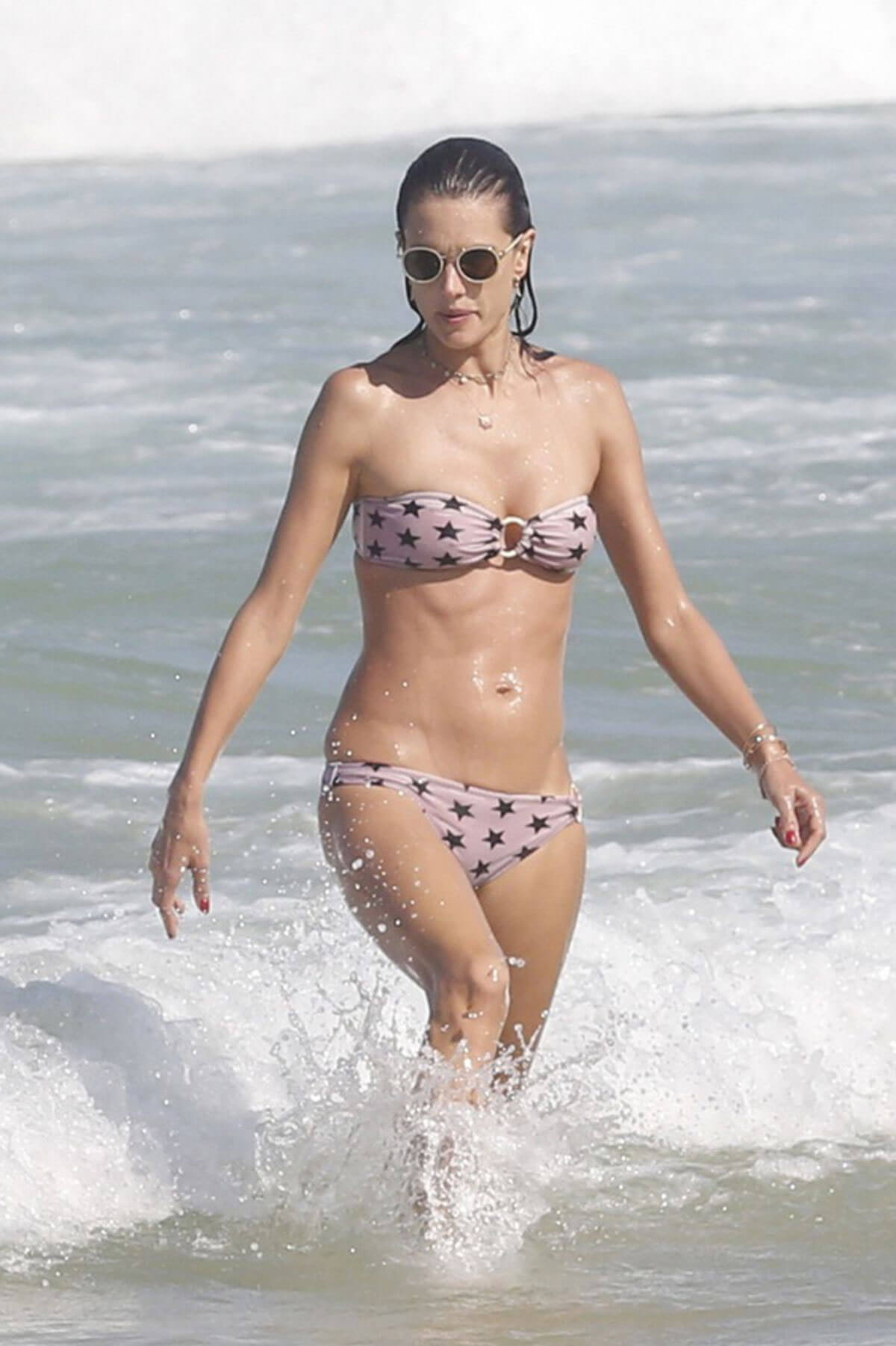 Alessandra Ambrosio in Bikini at a Beach in Florianopolis