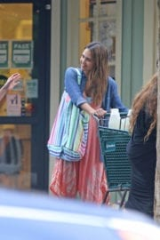 American Actress Jessica Alba Out Shopping in Hawaii