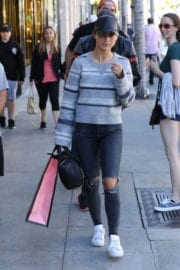 Cara Santana Stills Show Her Engagement Ring While Shopping in Beverly Hills