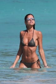 Izabel Goulart Stills in Bikini on the Beach in St. Barts