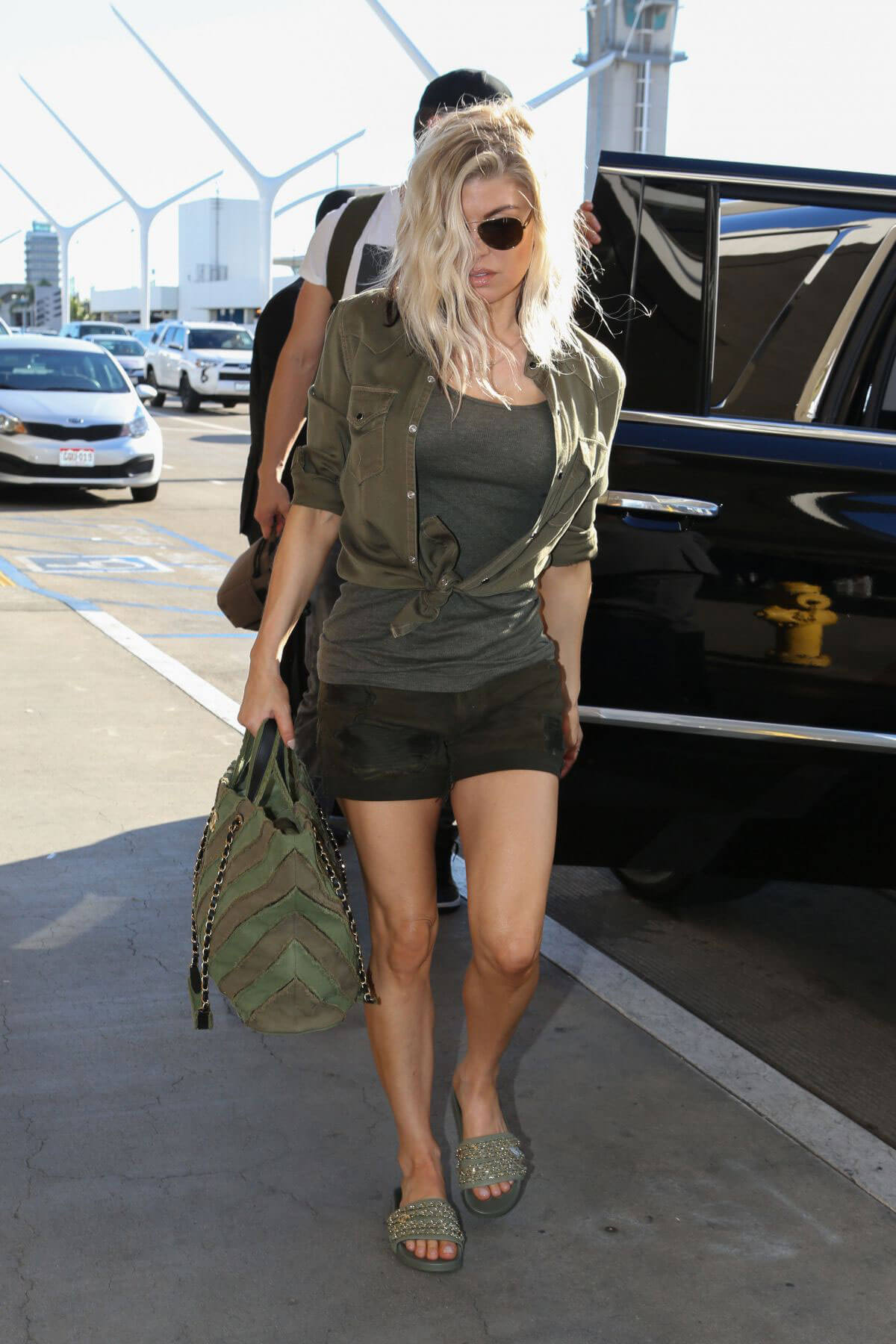 Stacy Fergie Ferguson Stills at LAX Airport in Los Angeles