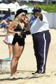 Tallia Storm Stills Images at a Beach in Barbados
