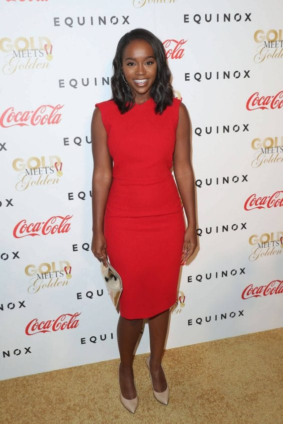 Aja Naomi King at Life is Good at Gold Meets Golden Event in Los Angeles