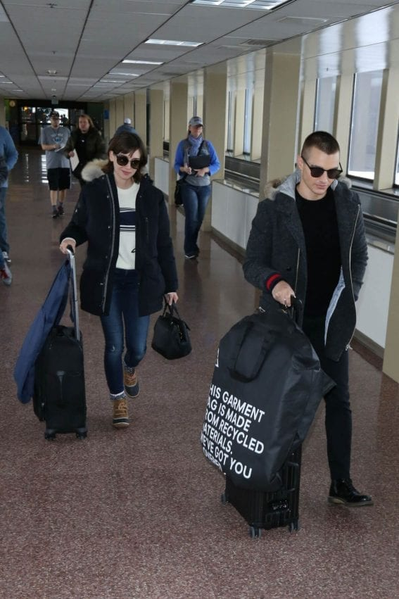 Alison Brie and Dave Franco Arrives in Salt Lake City