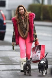 Ampika Pickston Stills Out with Her Dog in Cheshire