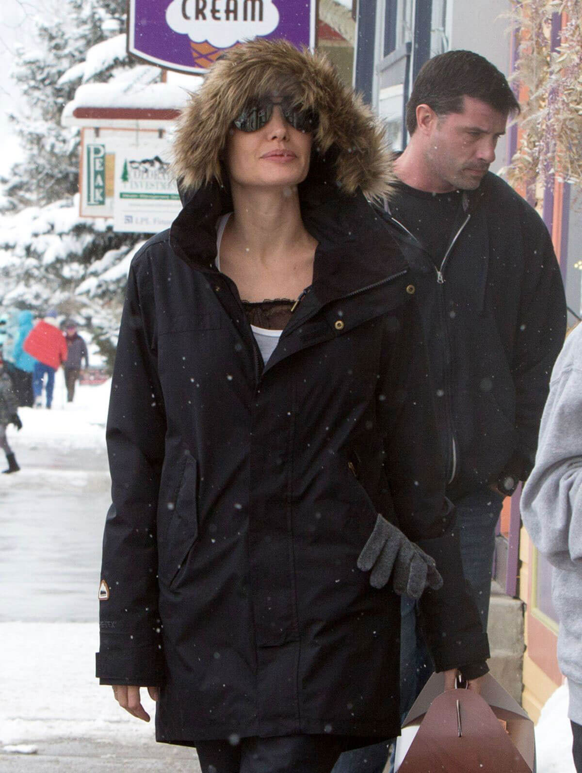 Angelina Jolie Stills Out and About in Crested Butte