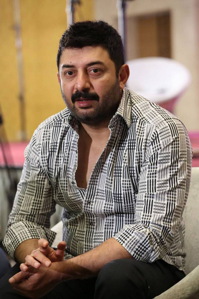 Arvind Swami at Dhruva Movie Interview