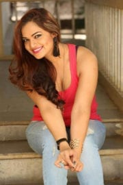 Ashwini in Pink Sleeveless T Shirt Images