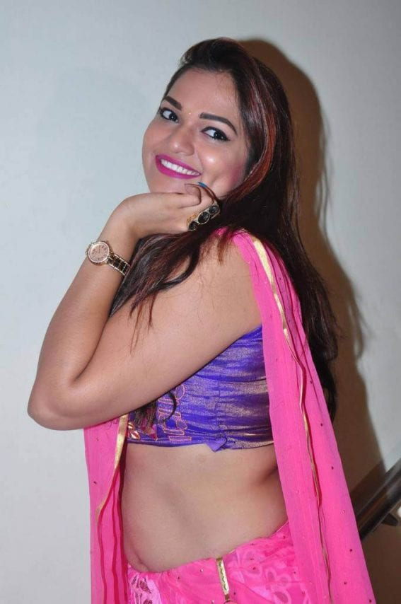 Ashwini Pink Half Saree at Trendz Vivah Exhibition Launch
