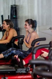 Bella and Dani Thorne at a Gym in Los Angeles