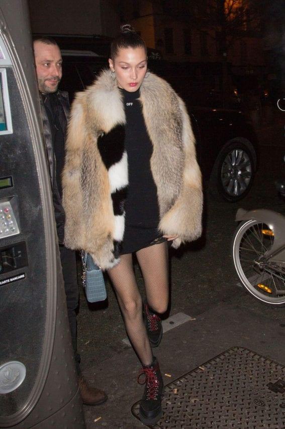 Bella Hadid Out for Dinner in Paris