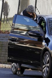 Billie Piper Walks Her Dog Out in London