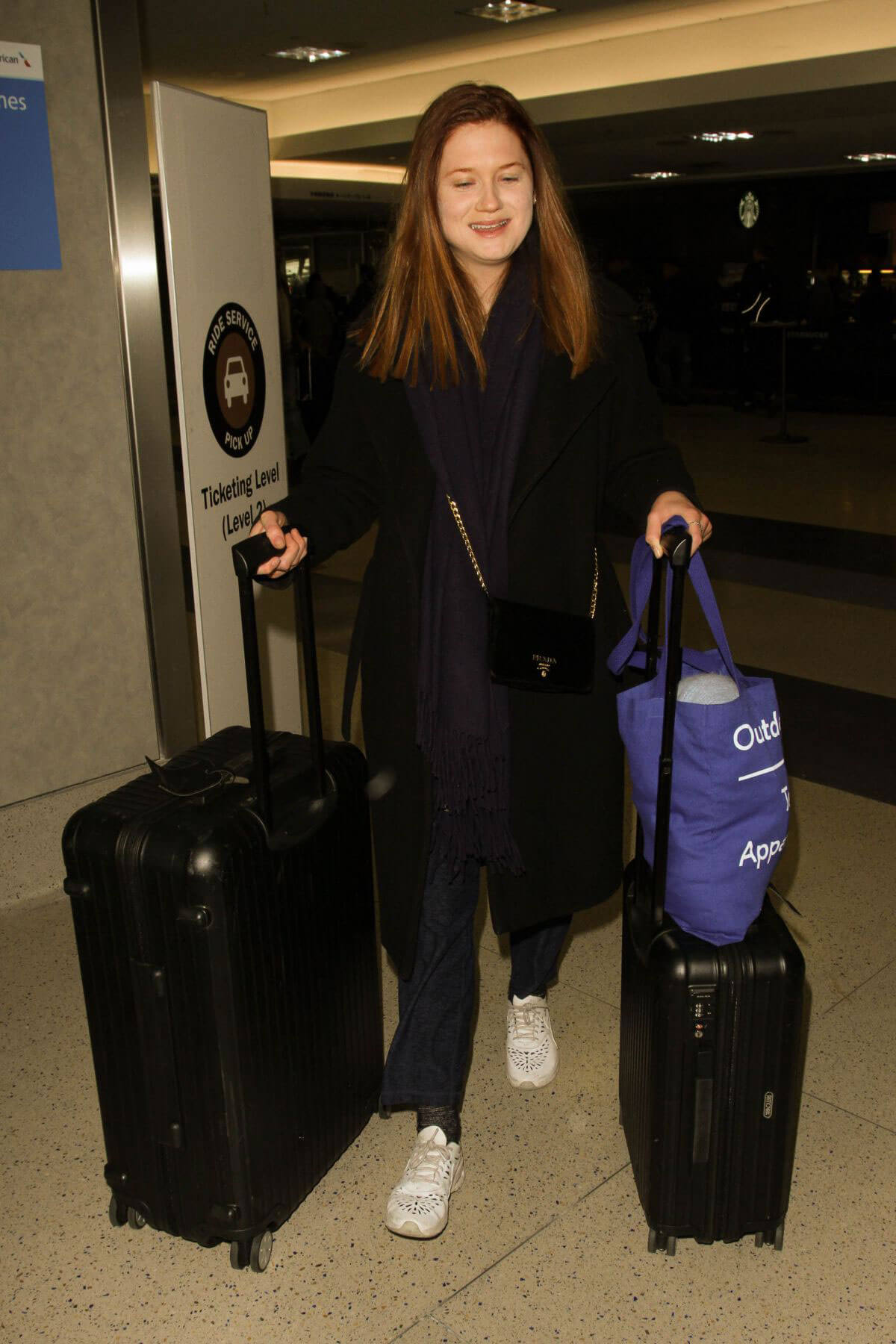 Bonnie Wright Stills at LAX Airport in Los Angeles Images