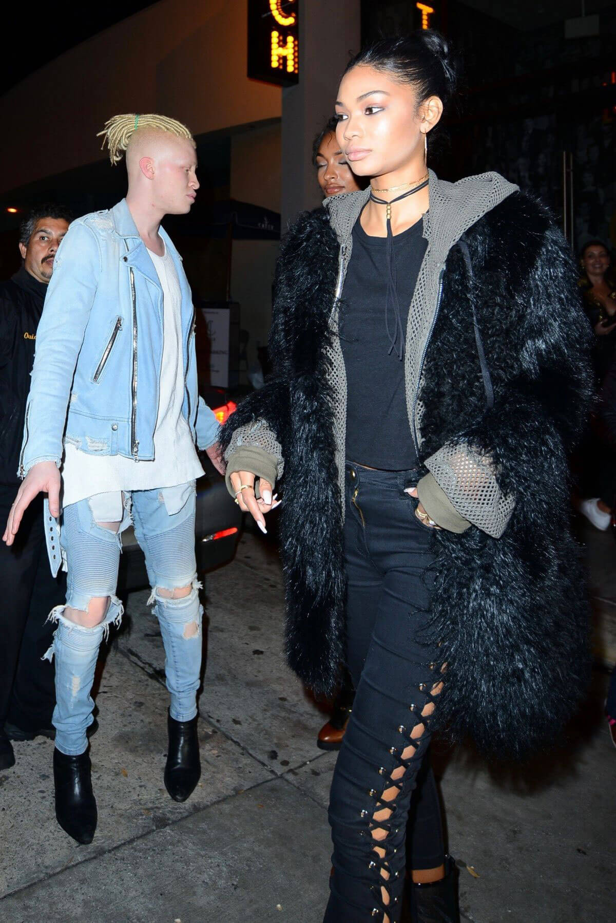 Chanel Iman and Jourdan Dunn at Catch LA in West Hollywood