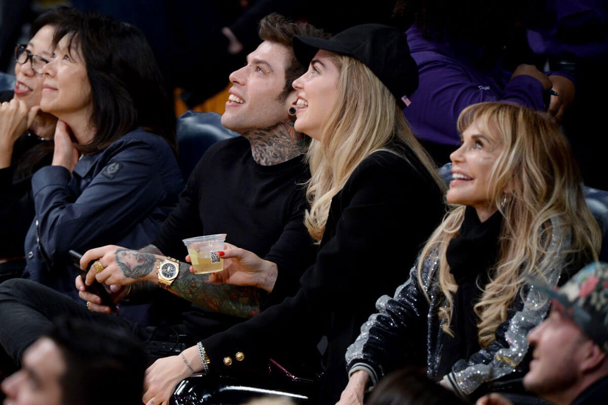Chiara Ferragni and Dyan Cannon at Miami Heat vs LA Lakers Game in Los Angeles