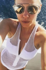 Elisha Cuthbert In Swimsuit At A Boat Instagram Picture Celebskart