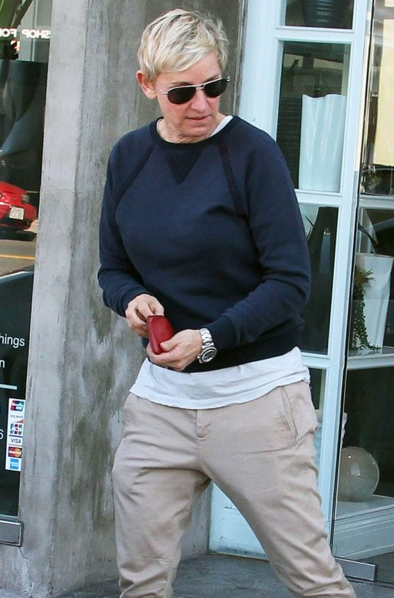 Ellen DeGeneres Stills Out and About in West Hollywood