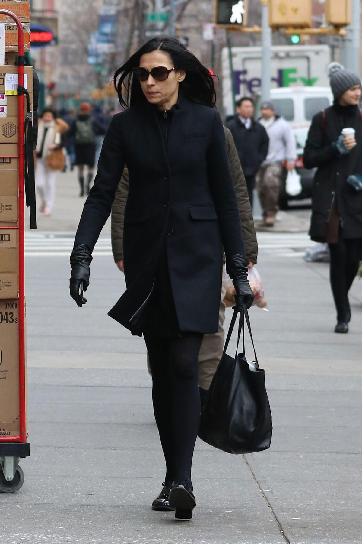 Famke Janssen Out and About in New York