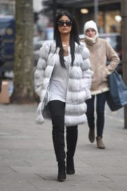 Farah Sattur Out for Shopping in London