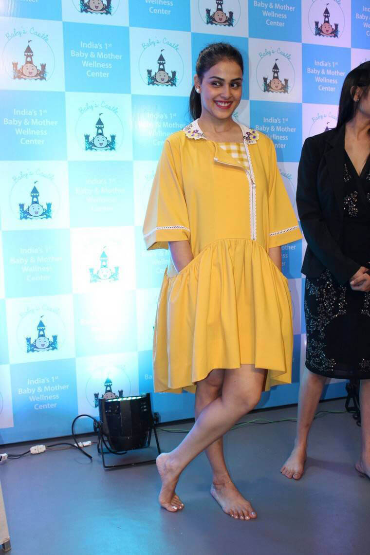 Genelia Dsouza at Baby and Mother Wellness Centre Launch