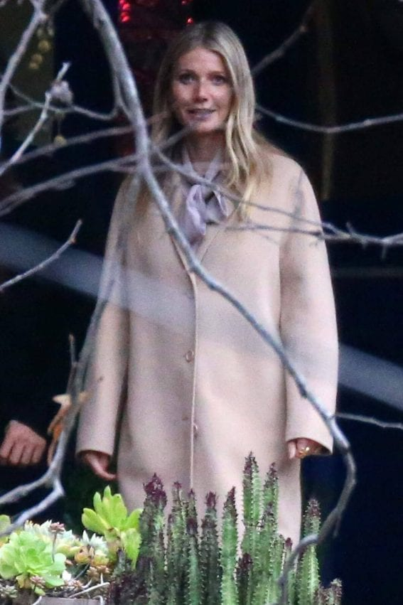 Gwyneth Paltrow Leaves Fisher Home in Beverly Hills