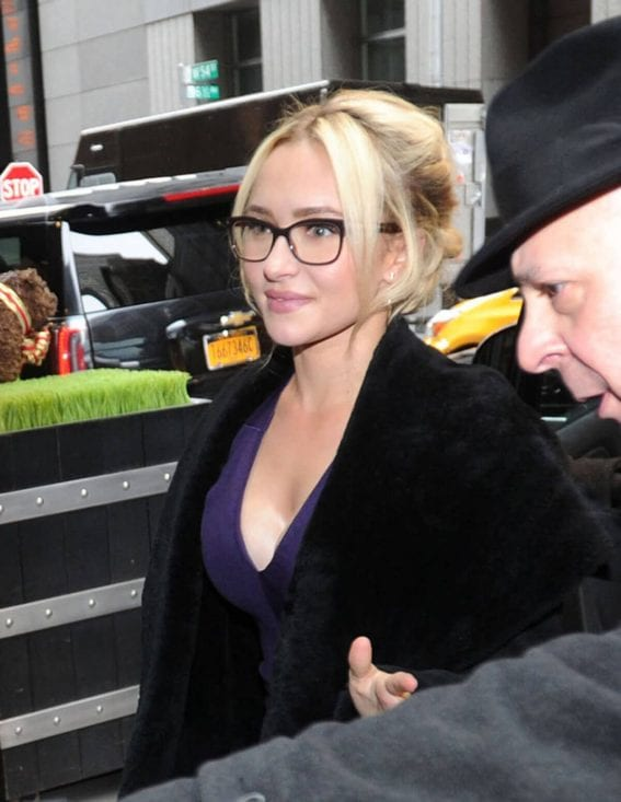 Hayden Panettiere Arrives Back to Her Hotel in New York