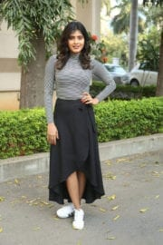 Hebah Patel at Manyampuli Movie Press Meet