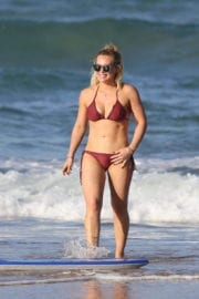 Hilary Duff in Bikini at a Beach in Hawaii