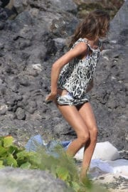 Izabel Goulart in Bikini on the Beach in St. Barts Photos